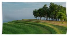 Beach Towel featuring the photograph Waves Of Grass by Davor Zerjav