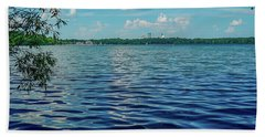 Waves On Lake Harriet Beach Towel