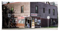 Beach Towel featuring the photograph Wayne Grocery by Juan Contreras