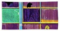 Beach Towel featuring the photograph Weenie On A Window by Robert FERD Frank