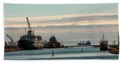 Welland Canal Ships Beach Towel
