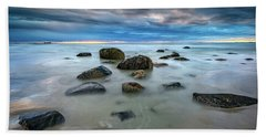 Beach Towel featuring the photograph Wells Beach In Blue by Rick Berk