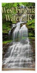 West Virginia Waterfalls Poster Beach Towel