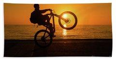 Wheelies At Sunset Beach Towel