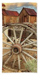 Wheels And Spokes In Color Beach Towel