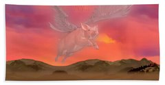 When Little Piggies Fly Beach Towel