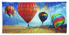 When The Sky Blooms Beach Towel