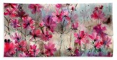 Where Pink Flowers Grew Beach Towel
