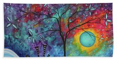 Whimiscal Abstract Original Painting Tree Art By Megan Duncanson Madart Beach Towel