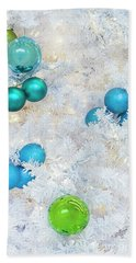 White Christmas Beach Towel