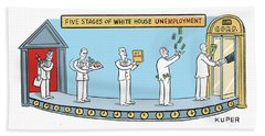 White House Unemployment Beach Towel