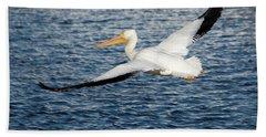 White Pelican Wingspan Beach Towel