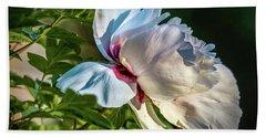 White Petals #i4 Beach Towel