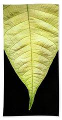 White Poinsettia Leaf Beach Towel