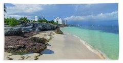 White Sandy Beach Of Cancun Beach Sheet