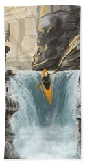 White Water Kayaking Beach Towel