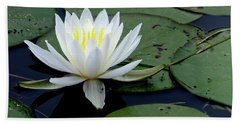 White Water Lilly Beach Towel