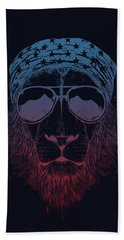 Wild Lion  Beach Towel