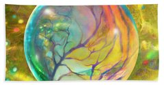 Wind In Wispy Willows Beach Towel