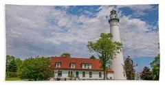 Wind Point Lighthouse  Beach Towel