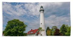 Wind Point Lighthouse No 3 Beach Towel