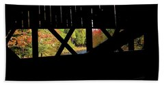 Beach Towel featuring the photograph Window To Fall by Debbie Stahre