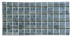 Windows Pattern Modern Architecture Beach Towel