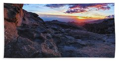 Windy Point Sunset Beach Towel