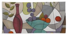 Wine And Fruit Beach Towel