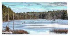 Winter At Lake Oswego Beach Sheet
