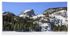 Beach Towel featuring the photograph Winter At Notchtop Mountain by Dawn Richards