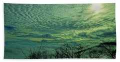 Winter Clouds Beach Towel