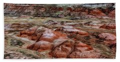 Beach Towel featuring the photograph Winter Colors Of The Painted Desert by Jon Burch Photography
