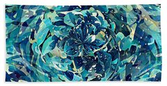 Winter Floral Beach Towel