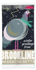 Winter Greetings Beach Towel