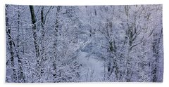 Winter Ice Storm Beach Towel