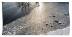 Winter Landscape At Whitesbog Beach Towel