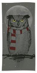 Winter Owl Beach Towel