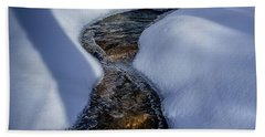 Beach Towel featuring the photograph Winter Stream. by Jeff Sinon