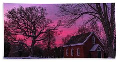 Beach Towel featuring the photograph Winter Sunrise by Lori Coleman