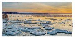 Winter Sunset Beach Towel