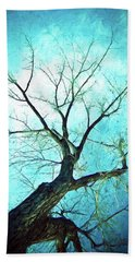 Beach Sheet featuring the photograph Winter Tree Blue  by James BO Insogna