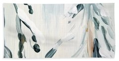 Beach Towel featuring the painting Winter Trees #3 by Maria Langgle