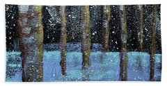 Wintry Scene I Beach Towel