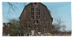 Beach Towel featuring the photograph Wisconsin Barn by Kim Hojnacki