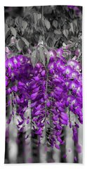 Beach Towel featuring the photograph Wisteria Falling by Lora J Wilson