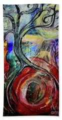 Beach Towel featuring the painting Witching Tree by Mimulux patricia No