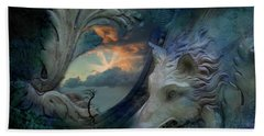 Wolf At The Window Beach Towel