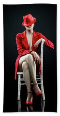 Woman In Red Beach Towel