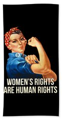 Womens Rights Are Human Rights Tshirt Beach Towel